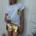 złoto vs srebro komplet tshirt plus szorty