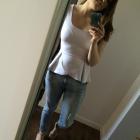Boyfriends jeans BASKINKA ażurowe sandałki