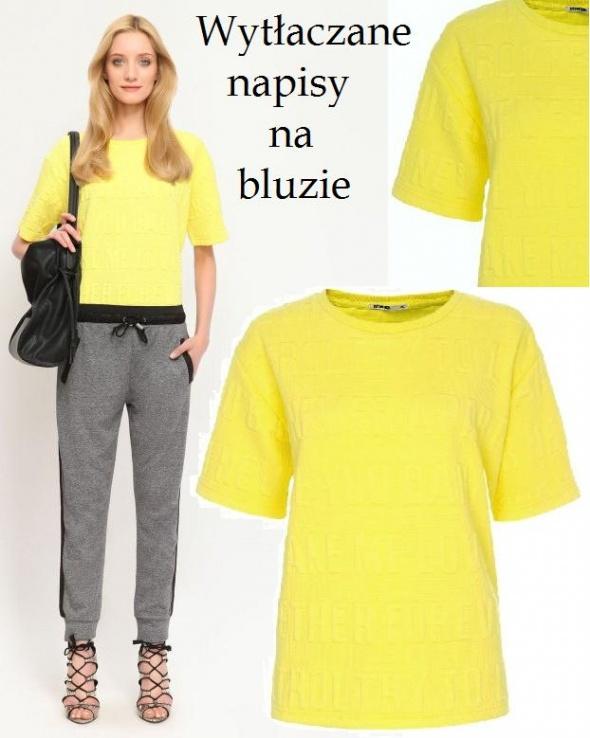 Żółta wytłaczana bluza...