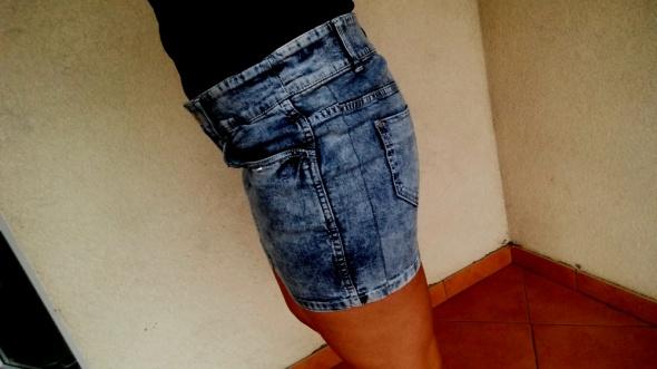 Spódnice jeansowa marmurkowa mini