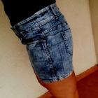 jeansowa marmurkowa mini