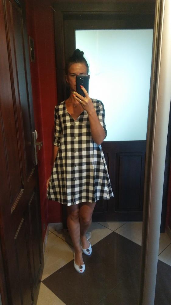 Blogerek Sukienka krata