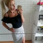 mega symetryczna spódnica paski długa mini sexy