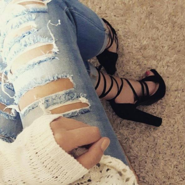 Sandały Sandałki na słupku