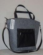 Rewelacyjna torebka listonoszka SHOPPER BAG z filc...