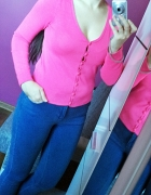 Neonowy sweterek H&M