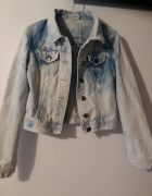 Marmurkowa kurtka jeansowa XS S 34