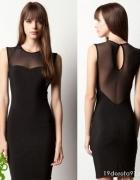 Czarna ołówkowa sukienka bez pleców