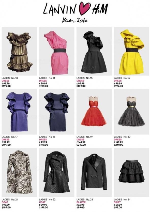 LANVIN for H&M Sukienka...