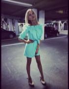 Hiszpanka Sukienka SKY BLUE