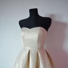Złota sukienka rozkloszowana S