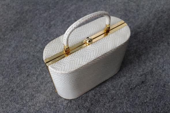 Kuferek beżowo złoty