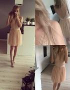 Sukienka z wyciętymi plecami wesele
