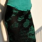 czarna spódnica z koronki