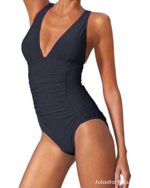 0ef8c7205c5577 44 46 Heine kostium strój kąpielowy czarny w Stroje kąpielowe - Szafa.pl