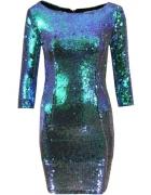 Sukienka w cekiny zielono niebieskie