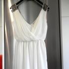 Sukienka Zara Wesele Impreza Kremowa Rozkloszowana