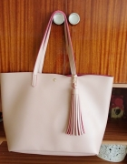 Shopper bag pudrowa boho