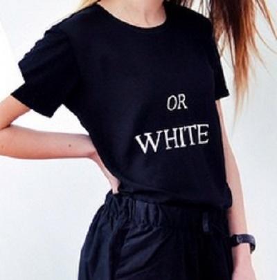 Tshirt z nampisem Black or White minimalizm