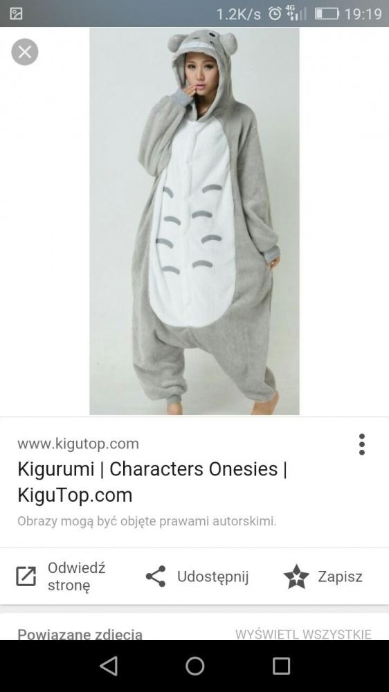Onesie Kigurumi śpiochy piżama jednoczęściowa