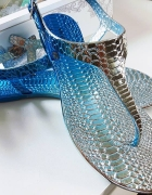 Niebieskie błyszczące sandałki Insomnia ombre