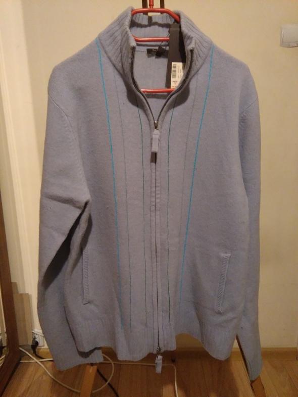 lawendowy sweter shetland L...