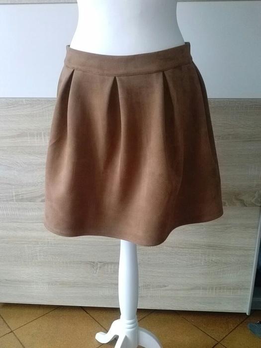 Spódnice piankowa zamszowa spódnica