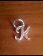 Srebrna zawieszka literka K