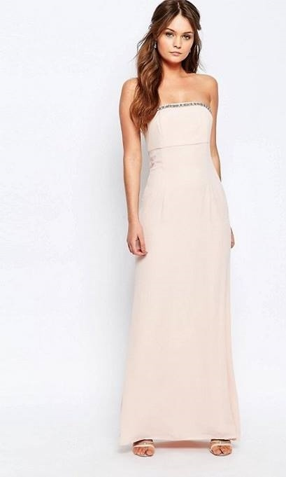 Sukienka M nude prosta gorsetowa...