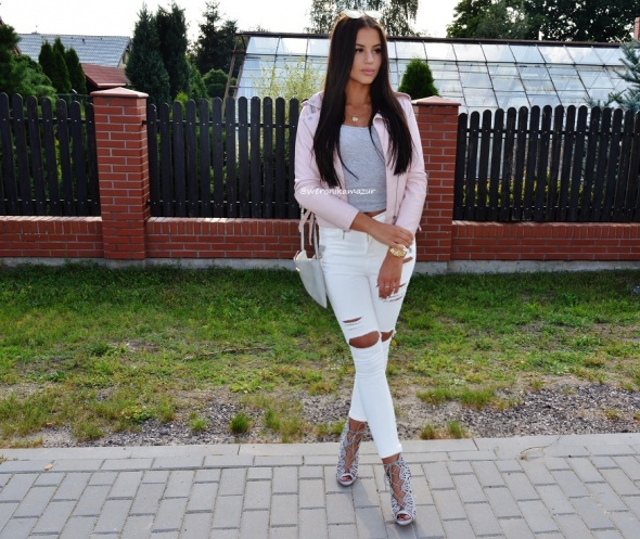 Blogerek pink gray and white