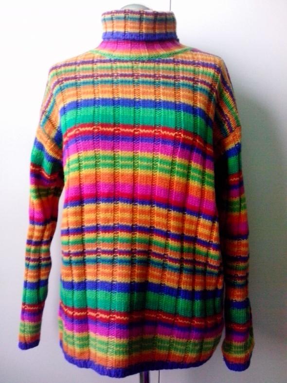1e177591d74887 kolorowy sweter wełniany M L w Swetry - Szafa.pl