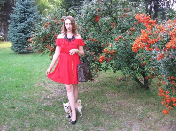 Codzienne Czerwona sukienka hiszpanka