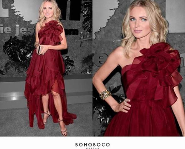 bordo czerwień suknia wieczorowa