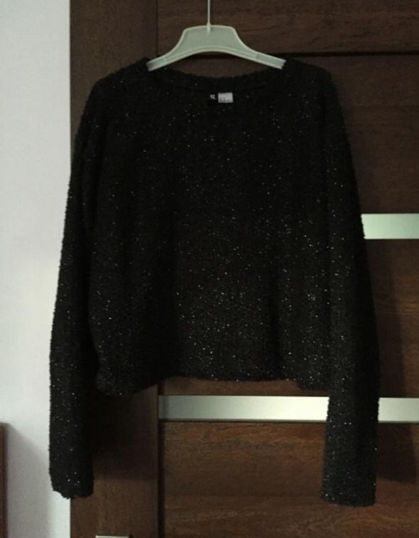 be56d0da9ede07 Czarny sweter z brokatem HM w Swetry - Szafa.pl