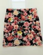 Spódniczka wysoki stan XS 34 Bershka floral kwiaty...