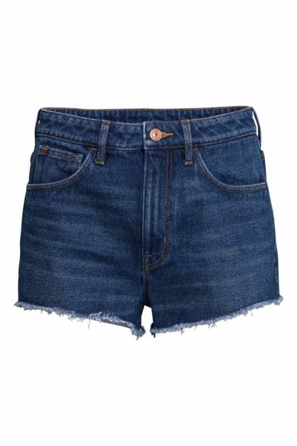 Szorty dżinsowe High waist H&M...