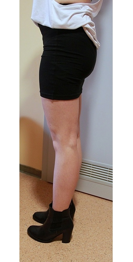 Czarna spódnica mini tuba bandażowa PullBear w Spódnice
