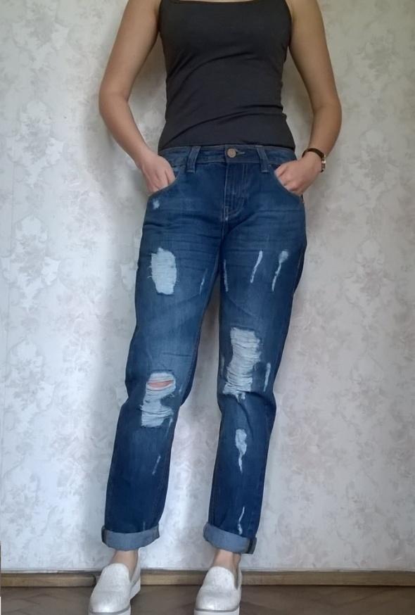 Spodnie jeansy boyfriend girlfriend Terranova XS w Spodnie