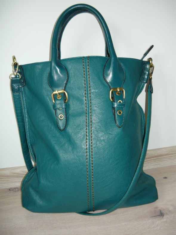 Śliczna torebka David Jones morska zieleń