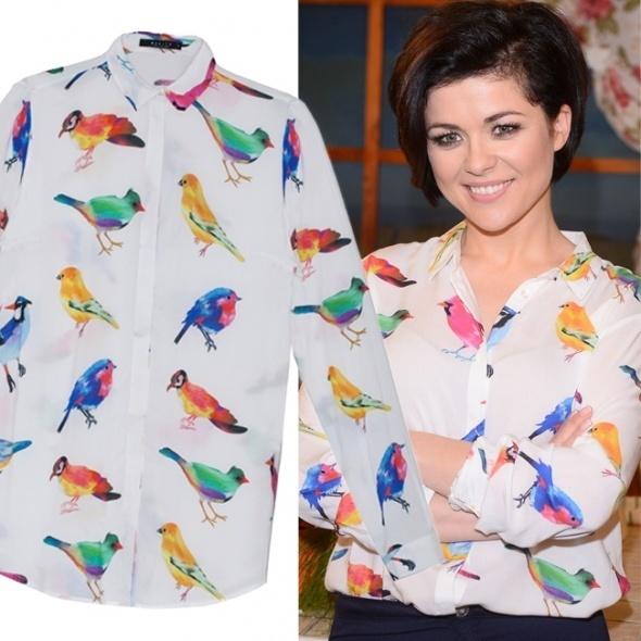 Ubrania koszula w kolorowe ptaki mohito