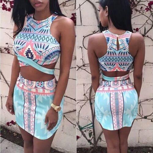 CUDO top plus spodniczka aztec nowa s m l xl