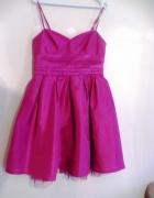 Różowa fuksja sukienka koktailowa...