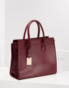 Bordowa klasyczna torebka