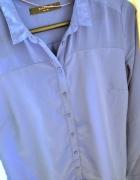 Kobaltowa koszula marki Reserved