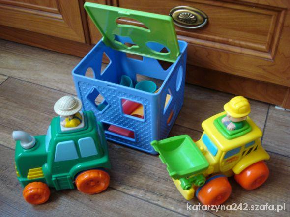 traktorki i kostka edukacyjna