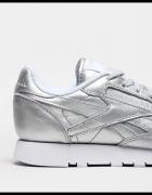 reebok leather silver...