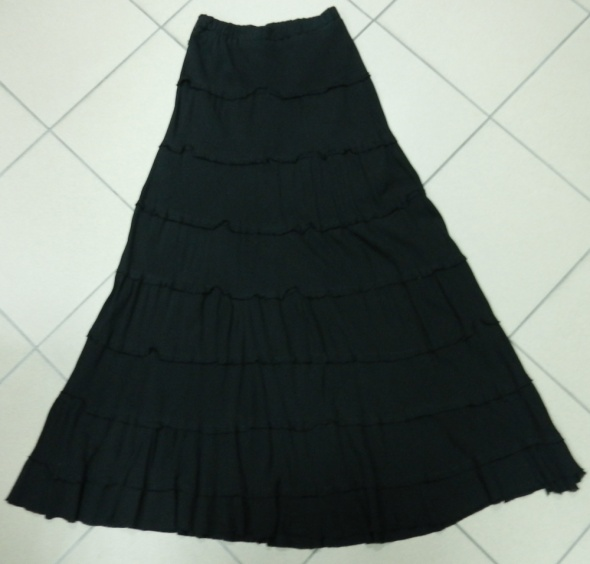 Spódnice Spódnica długa maxi czarna bawełna 40 L