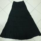 Spódnica długa maxi czarna bawełna 40 L