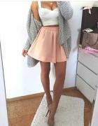 Biały top spódniczka