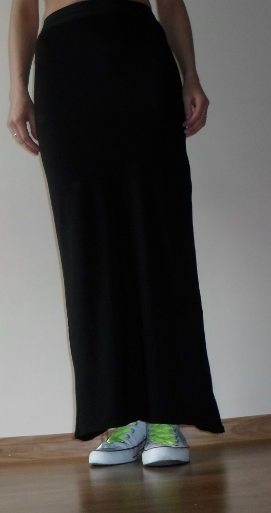 5b4f6160 długa czarna spódnica boohoo S w Spódnice - Szafa.pl